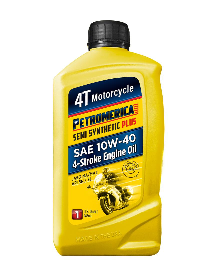 Petromerica 4T Semi Synthetic PLUS 10W-40 Motorcycle Engine Oil